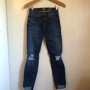 7 for all Mankind Ankle Skinny Distressed